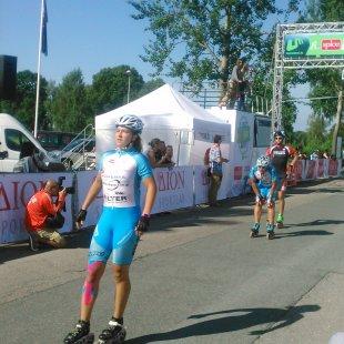 Spices maratons - finišē Latvijas čempione Laima Kaufiņa, 2014