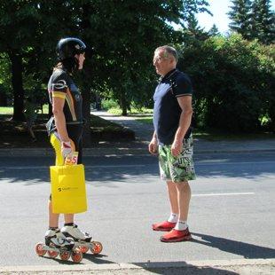 Pērnavas pusmaratons -2015 - pārrunas ar treneri pēc finiša