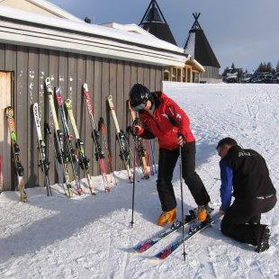 Suomutunturi - 2012, sagatavošanās slēpju testam.