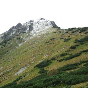 Sniegotie kalni - naktī uzsniga sniegs